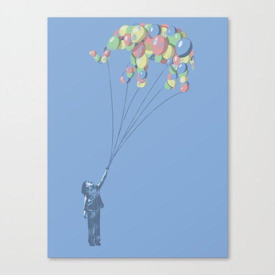 Elephants Can Fly Canvas Print
