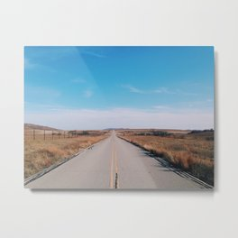 Good road for travelin' on Metal Print