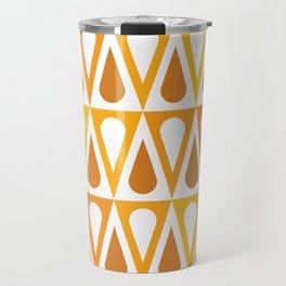Geometric Pattern #57 (orange teardrop triangles) Travel Mug