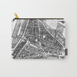 Vintage Map of Rotterdam Netherlands (1649) 2 BW Carry-All Pouch