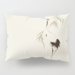 Oriental Red-Crowned Crane 001 Pillow Sham