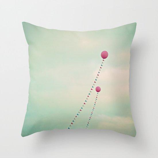 Whimsical Balloons Throw Pillow