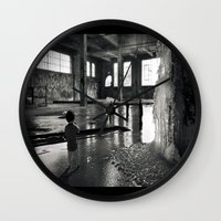 welcome Wall Clocks featuring Welcome by Robin Curtiss