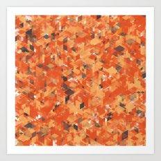 Chameleonic Panelscape  - Colours from Alice Rebecca Art Print