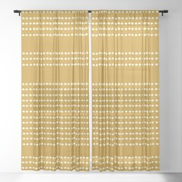Spotted, African Pattern in Yellow Sheer Curtain