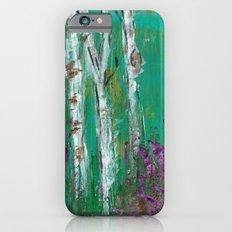 Birch Trees in a Lavender Field Slim Case iPhone 6s