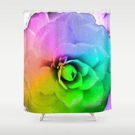 Rainbow Blossom Shower Curtain