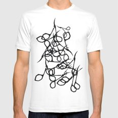 Scissors SMALL White Mens Fitted Tee