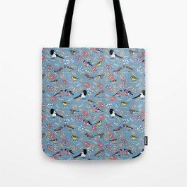 Wintering Birds. Tote Bag