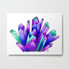 Diamond Crystal Metal Print
