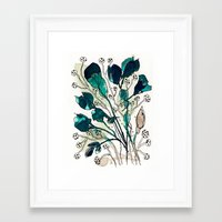 emerald Framed Art Prints featuring Emerald by Tonya Doughty