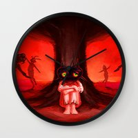 majora Wall Clocks featuring MAJORA MASK by Veylow