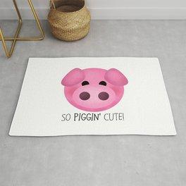 So Piggin' Cute! Rug