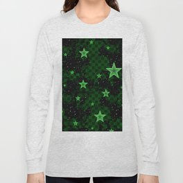 Green Neon Stars Long Sleeve T-shirt