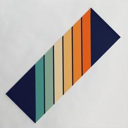 Farida - 70s Vintage Style Retro Stripes Yoga Mat