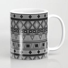 black and white geometric striped pattern Coffee Mug