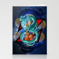 dbz Stationery Cards featuring DBZ - Goku Super Saiyan God by Mr. Stonebanks