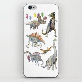 PARTY OF DINOSAURS iPhone Skin
