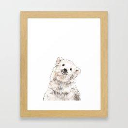 Baby Polar Bear Framed Art Print