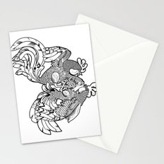 Rooster BW Stationery Cards