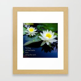 Do the Work 2 Framed Art Print