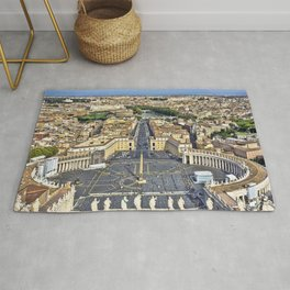 St Peter's Square in Rome, Italy Rug