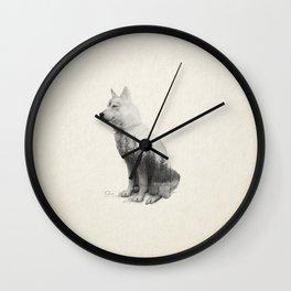 Ghost Dog - Mansi Wall Clock