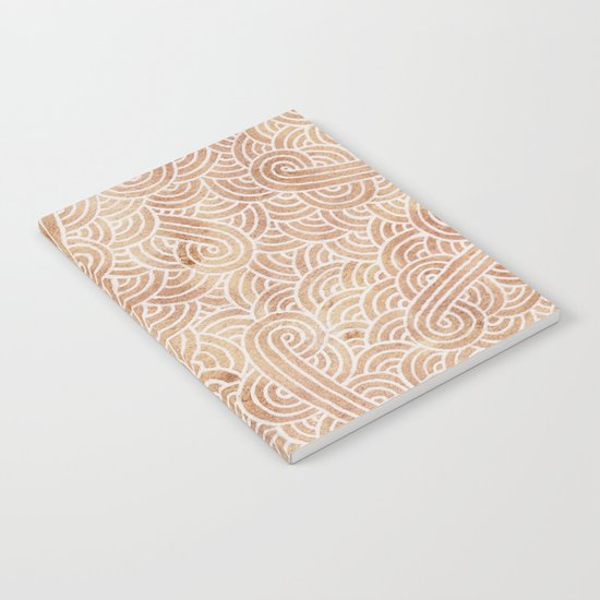 Iced coffee and white swirls doodles Notebook