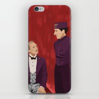 budapest hotel iPhone & iPod Skins featuring The Budapest by Jenna McCloskey
