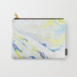 Blue & Yellow Marbling Carry-All Pouch