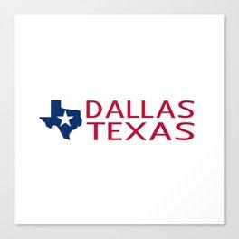 Texas: Dallas (State Shape & Star) Canvas Print