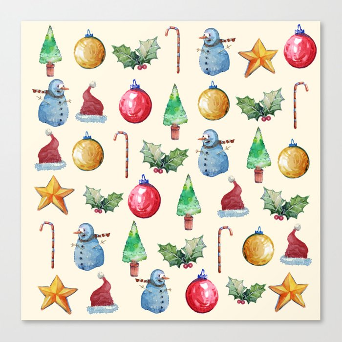 Christmas!! Pattern! (Holidays) Canvas Print