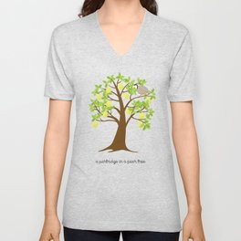 A Partridge in a Pear Tree Unisex V-Neck