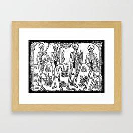 Danse Macabre Musicians Framed Art Print