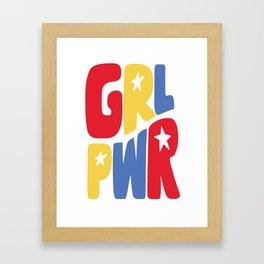GRL PWR Star Framed Art Print