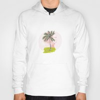 palm tree Hoodies featuring Palm Tree by Meike Teichmann