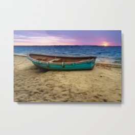 Boat by the sea Metal Print