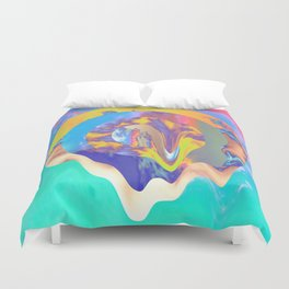 Psychedelic Clouds Duvet Cover