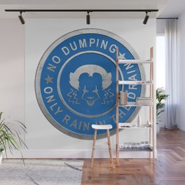 Pennywise No Dumping Only Rain in the Drain Stormwater Cap - IT (2017) Wall Mural