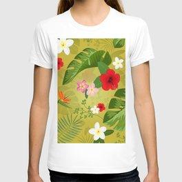 Tropical Flower Background 3 T-shirt