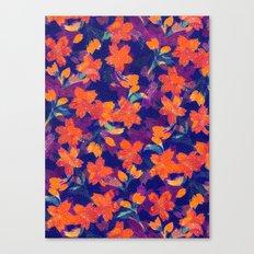 Japanese Garden: Blossoms Dk Canvas Print