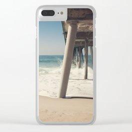Hermosa Beach Pier Clear iPhone Case