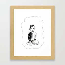 Portrait of a Victorian Baby Framed Art Print