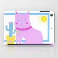 kurt rahn iPad Cases featuring Kurt the Cat by Madelen Foss