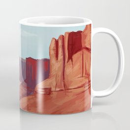 Red Landscape Coffee Mug