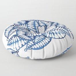 Indigo Frangipani Floor Pillow