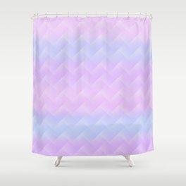 Chevron Candy floss Shower Curtain