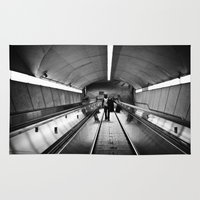 montreal Area & Throw Rugs featuring Montreal Subway | Métro de Montreal by Simon Laroche