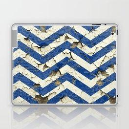 Peeling Chevrons Blue Laptop & iPad Skin