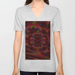 Cosmic Spiral Vortex Mirror Unisex V-Neck